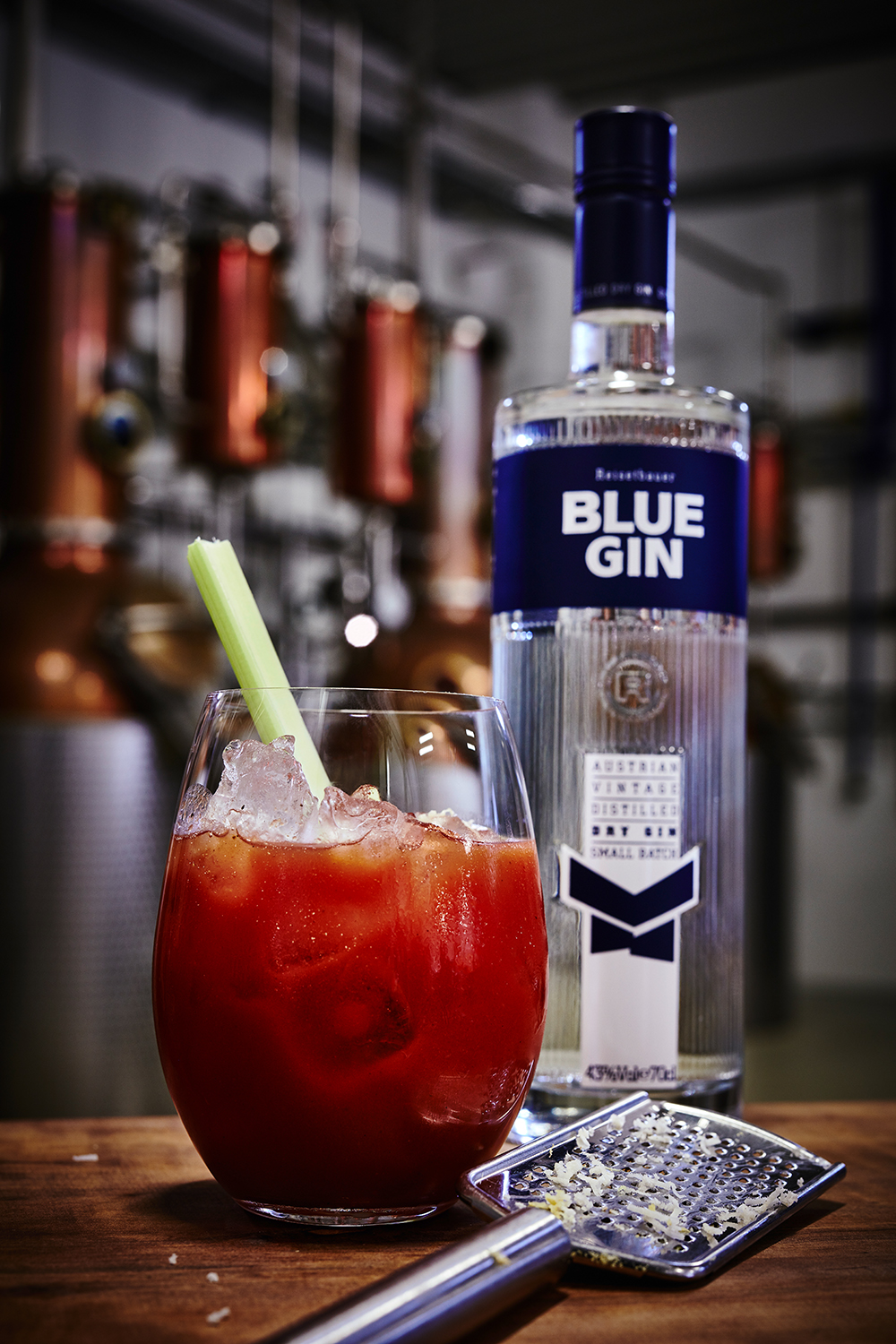 BLUE GIN BLOODY MARY